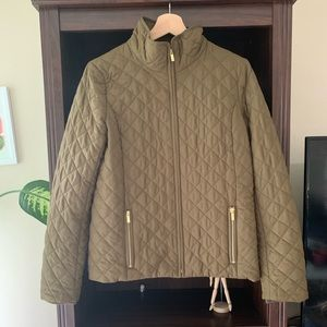 J.Crew Olive Green Quilted Jacket